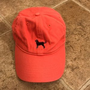 Coral colored hat from the Black Dog